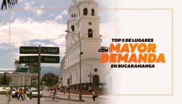 Top 5 de los lugares con mayor demanda para arrendar o comprar un inmueble en la ciudad de B/manga